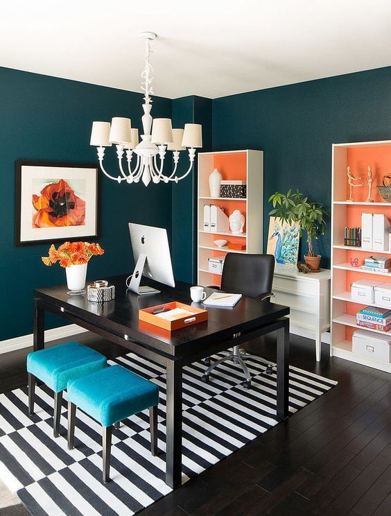 Dark teal dream office