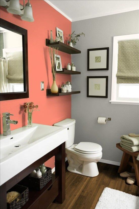 Glorious gray bathroom accent color
