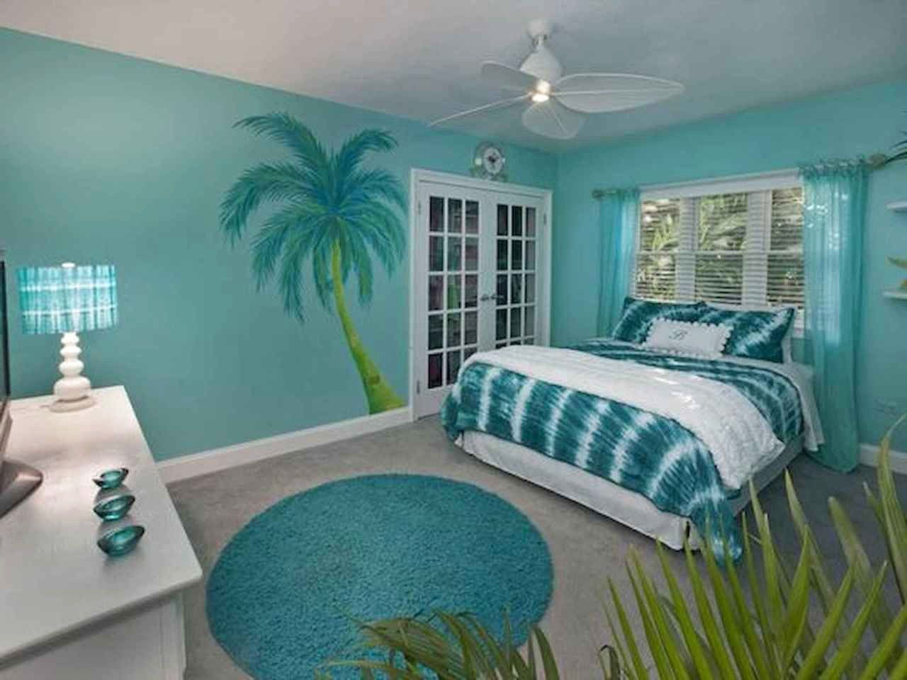 Beach-Themed Turquoise Bedroom