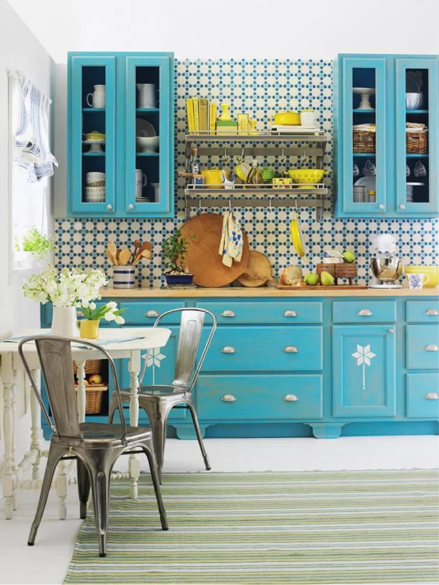 Turquoise Kitchen Furniture