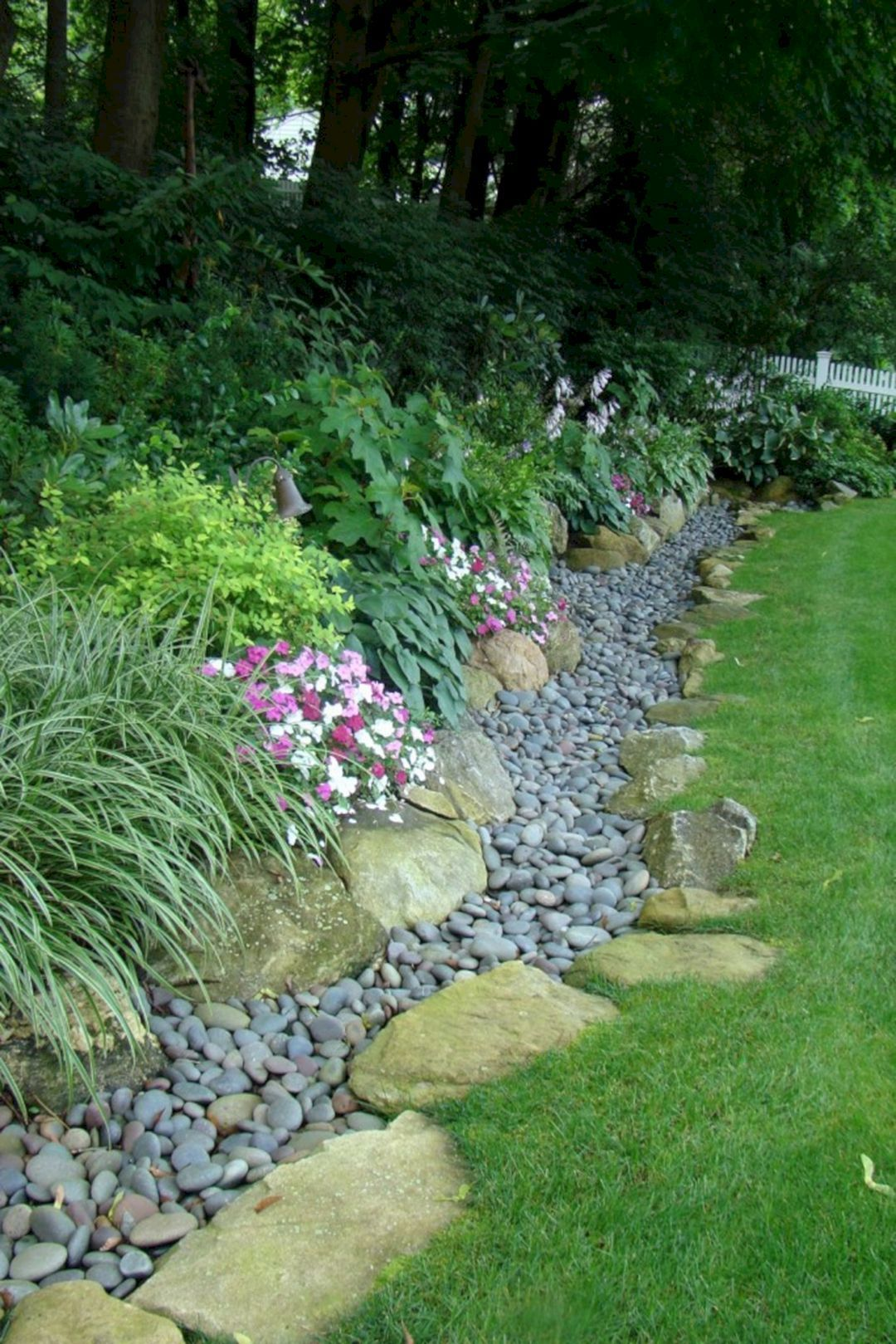 Ground-Covering with Rocks - Hillside landscaping