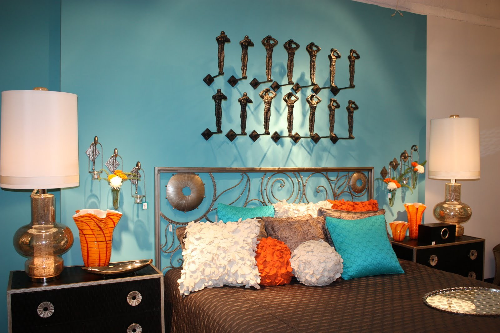 Orange and Turquoise Room Ideas for Sleeping
