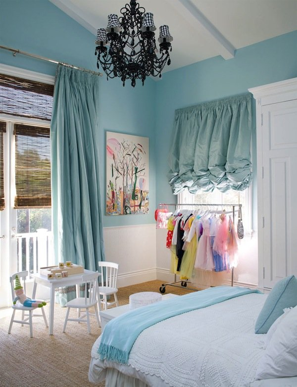 Turquoise and Pastel Girl's Bedroom