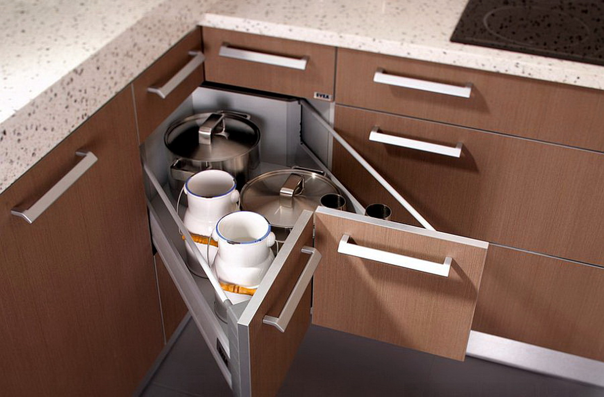 Cornered Pull-Out Drawers